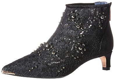 e418bc979 Ted Baker Women s RHEIA Fashion Boot Black Textile 5 Medium US