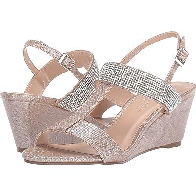 Paradox London Pink Women's Jacey Wedge Sandal, Champagne, 8.5 M | Platforms & Wedges