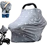 Breastfeeding Nursing Cover Carseat Canopy - Multi Use Infant Stroller Cover, Car Seat Covers for Babies, Nursing Scarf, Baby