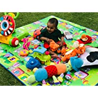 Paramount Waterproof, Anti Skid , Double Sided Baby Play and Crawl Mat (Multicolour, 6'X5' Feet)