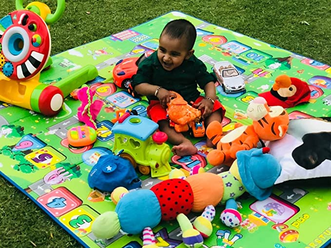 Paramount Waterproof, Anti Skid , Double Sided Baby Play and Crawl Mat (Multicolour, 6X5 Feet)