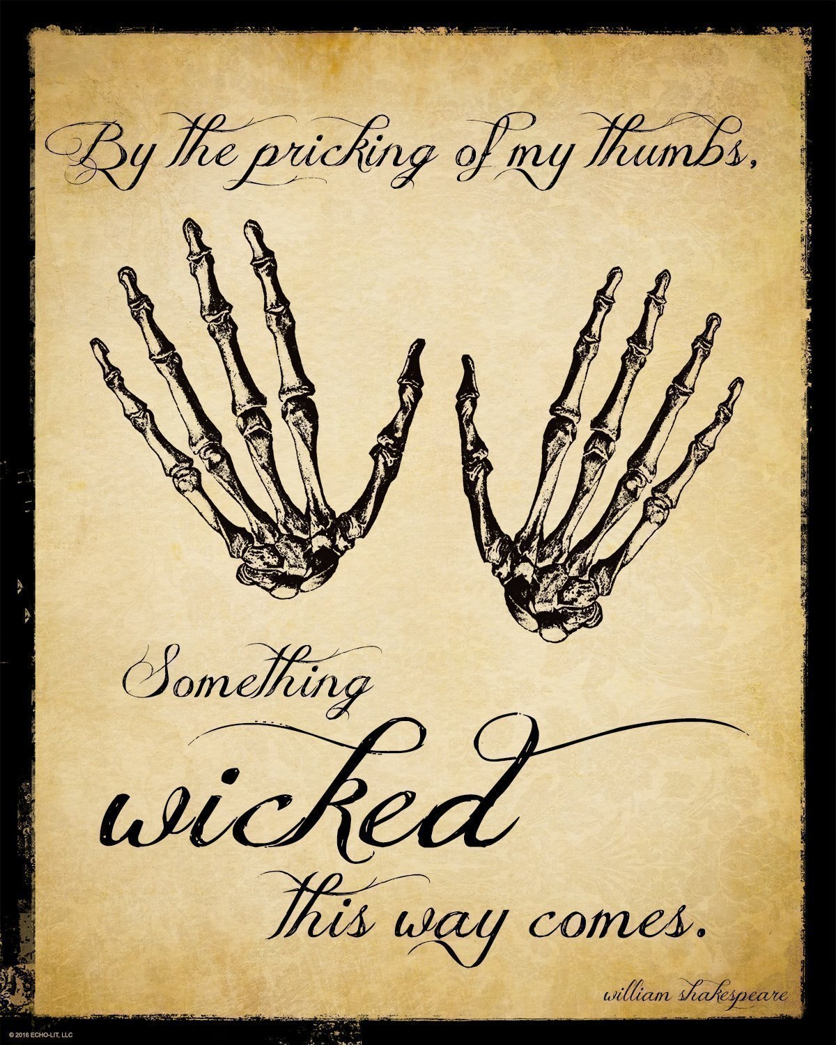 Amazon.com: Something Wicked This Way Comes Shakespeare Literary ...