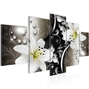 Amazon.de: Bilder Blumen Lilien Wandbild 200 x 100 cm Vlies ...