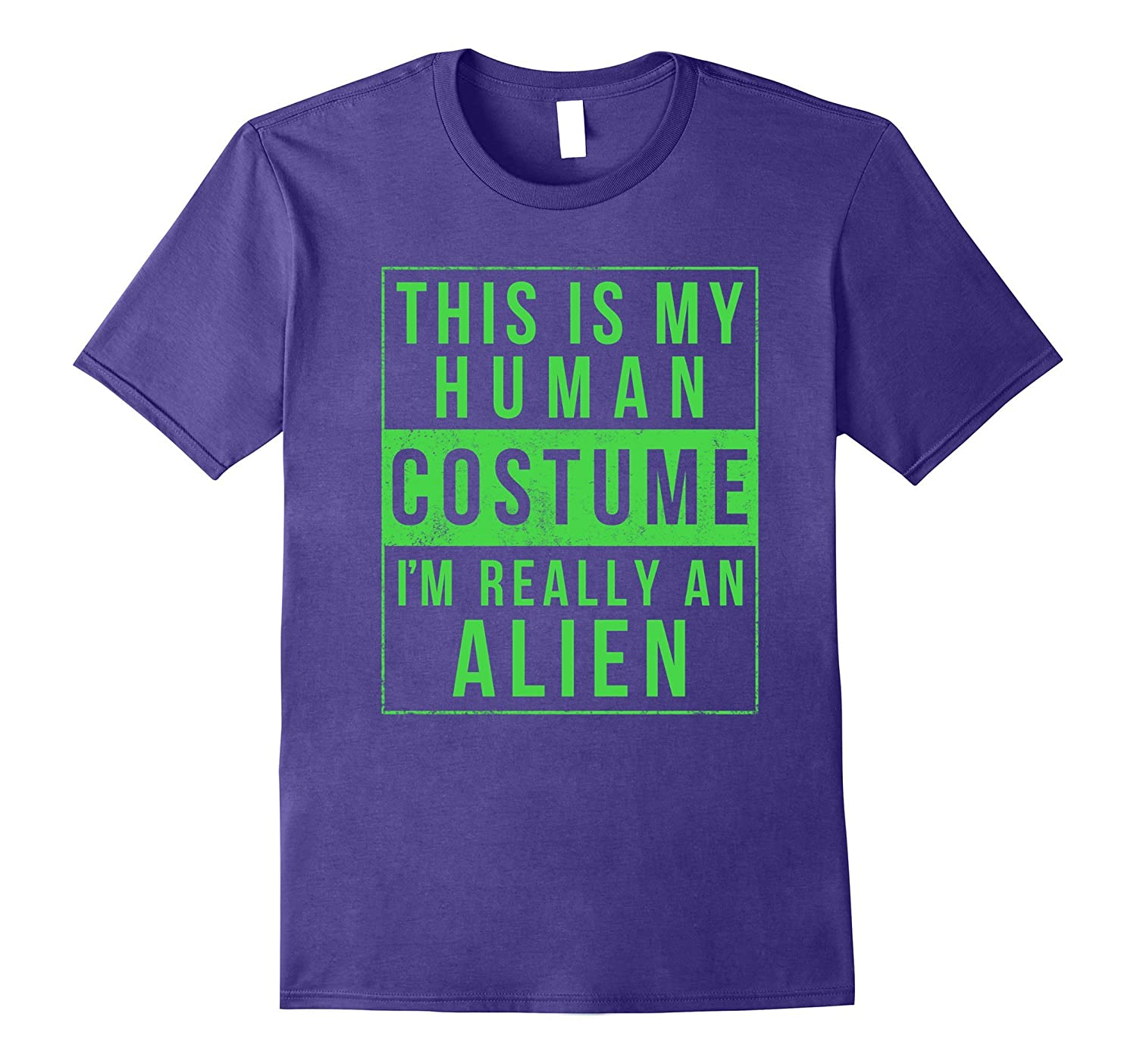 Alien Halloween Costume Shirt Funny UFO Easy for Kids Adults-T-Shirt