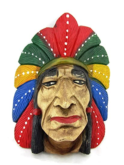Amazon com: Blue Orchid Hand Carved Wood American Indian Cigar Store