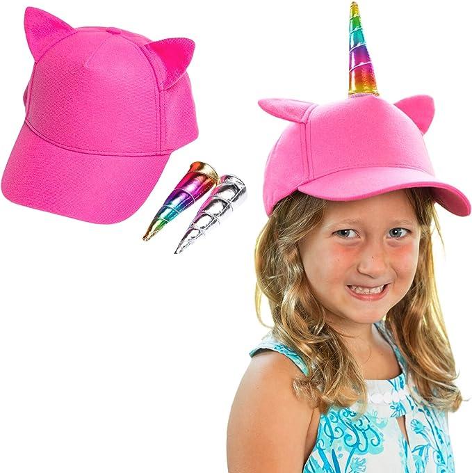 Girls Magical Rainbow Unicorn Summer Baseball Cap Hat Childrens Kids Horse Pony
