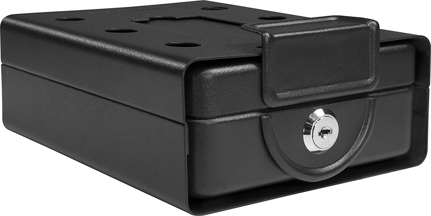Barska Compact Safe Key Lock Safe W Mounting Sleeve Ax11812 Black Medium Gun Safes And Cabinets