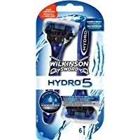 Wilkinson - Hydro 5 - Rasoirs jetables masculins - Pack de 6