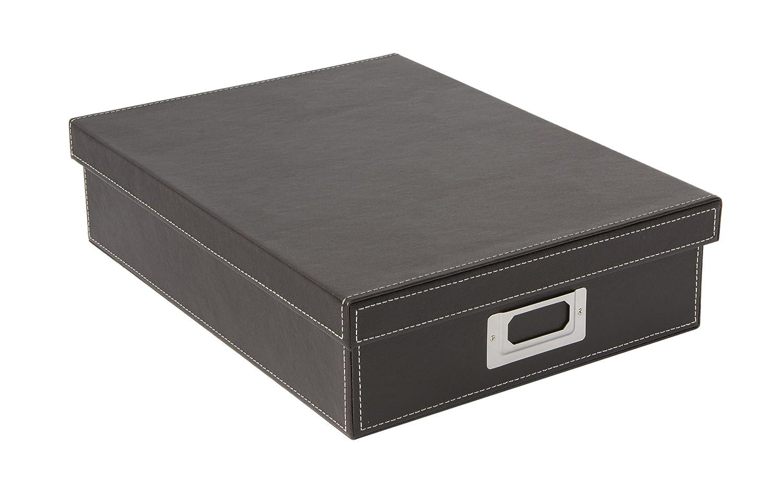 Osco - Contenitore A4 in ecopelle, colore: Marrone Osco Europe BPUA4BOX
