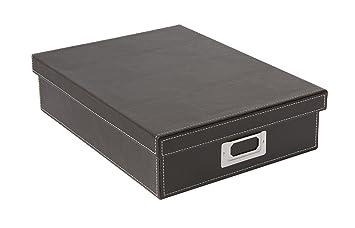 Osco bpua4 boîte de luxe faux cuir bureau accessoires et plateau
