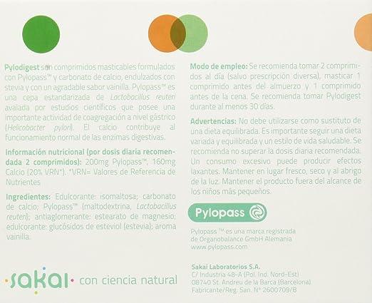 Sakai Pylodigest Complemento Alimenticio - 60 Tabletas