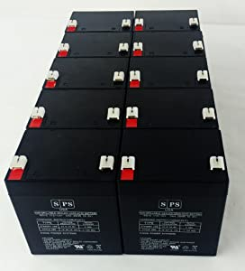 12v 5Ah GE 60-681 Alarm Replacement Battery SPS BRAND (10 PACK)