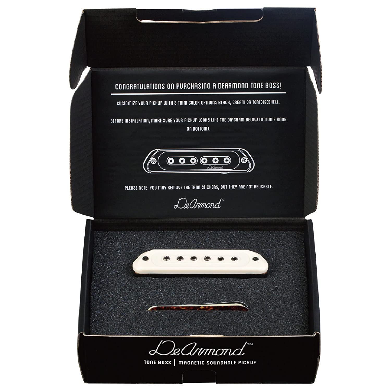 Amazon.com: Guild Guitars DeArmond Tone Boss Sound hole Pickup: Musical  Instruments