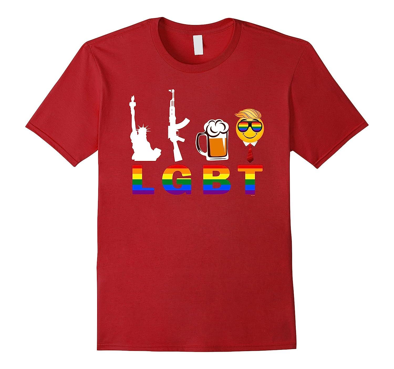 Emojicon Liberty guns beer trump gay pride tshirts woman men