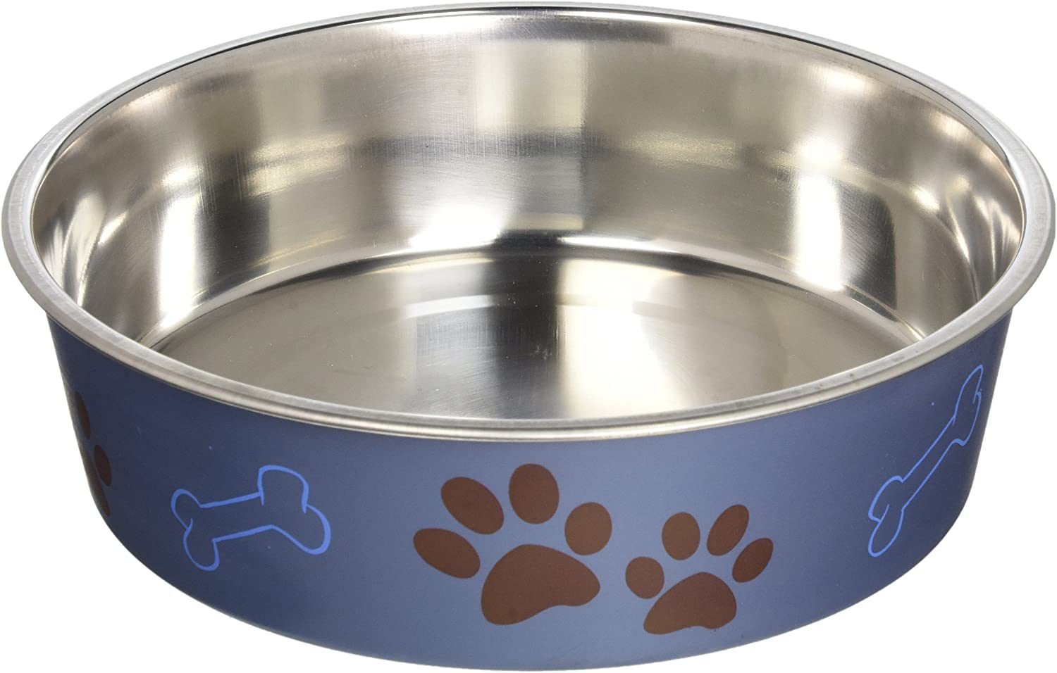 Loving Pets Metallic Bella Bowl, Large, Blueberry