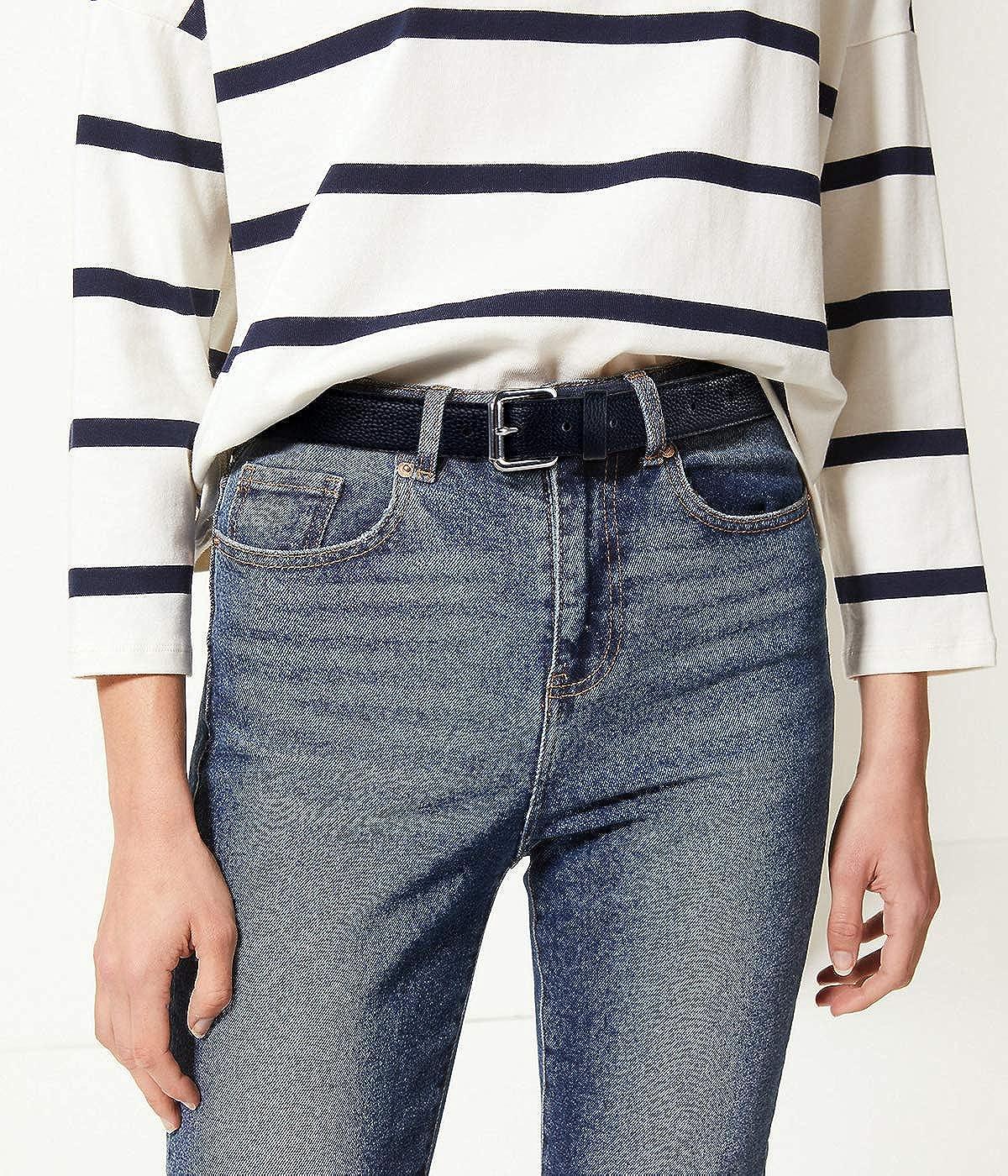 Chaps Femme Ceinture skinny en jean. Ceinture Noir Profond