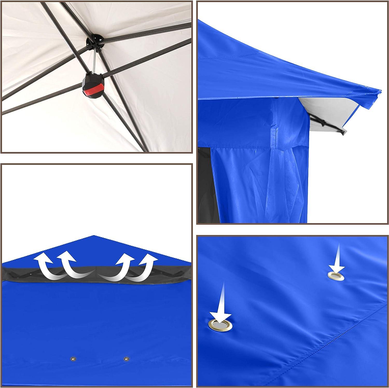 ABCCANOPY 13x13 Gazebo Tent Outdoor Pop up Gazebo Canopy Shelter with Mosquito Netting,Khaki
