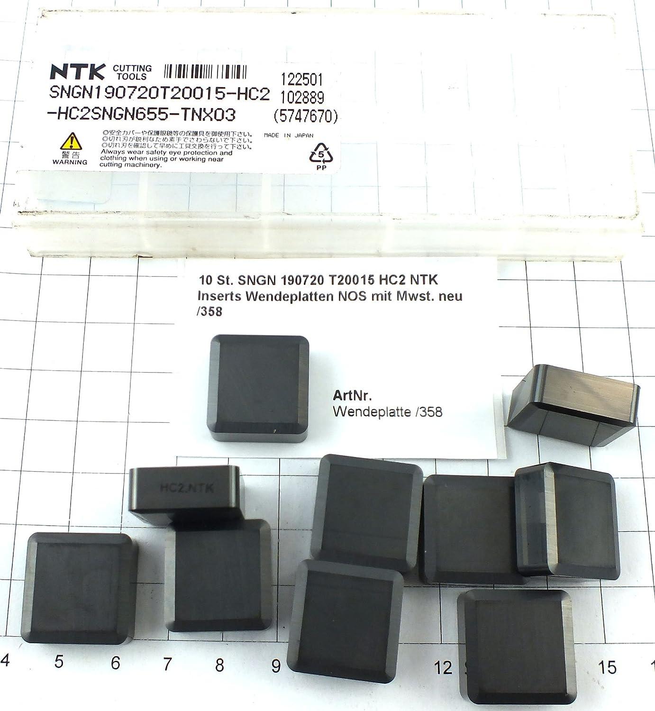 10 St SNGN 190720 T20015 HC2 NTK Inserts Wendeplatten NOS mit Mwst neu //358