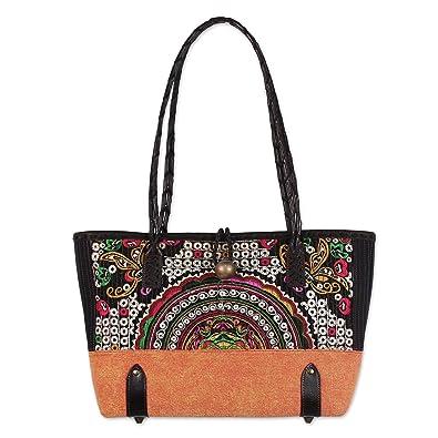 86ce505dd8f0 NOVICA Multicolor Cotton Blend Shoulder Bag
