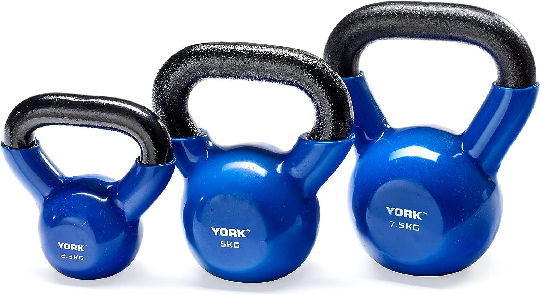 York Fitness (Fundido en Vinilo Pesa Rusa, Unisex, Vinyl Dipped, Azul: Amazon.es: Deportes y aire libre