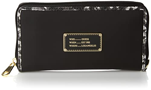 Guess Florencia Large Zip Around, Monedero para Mujer, Negro ...