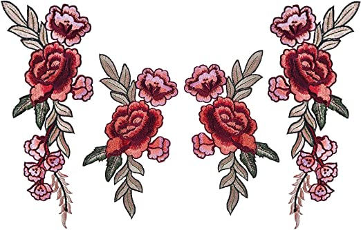 Beautiful Roses Patch 6,8 x 7,8 cm Patch Embroidered Iron On Patches Sew On Patches Embroidery Applikations Applique Embroidered Iron On Patches Sew On Patches Embroidery Applikations Applique