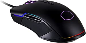 Cooler Master Optical Gaming Mouse (USB/Black/10000dpi/8 Buttons/RGB LED) - MasterMouse CM310
