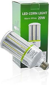 20W LED Corn Light Bulb 4000K Replaces 150W, 2,500 lumens Medium Base E26, 100-277V AC UL/cUL Certified