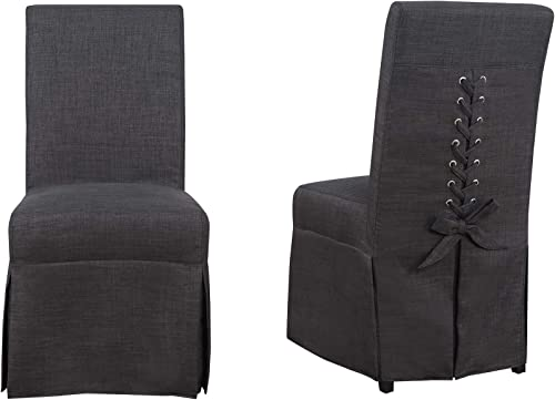 Picket House Furnishings Hayden Parsons Dining Chair Set Charcoal