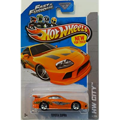 Hot Wheels 2013 HW City Fast & Furious Toyota Supra 5/250, Orange: Toys & Games