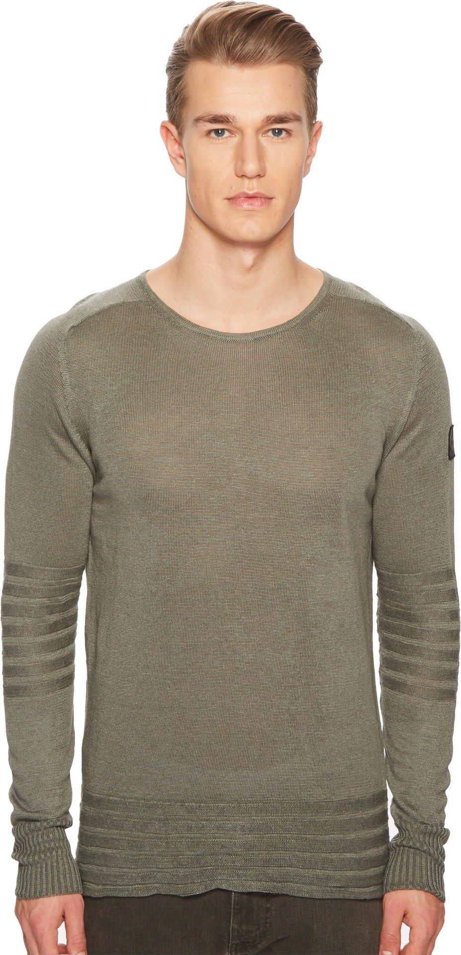 Belstaff Men's Exford Fine Gauge Linen Sweater Slate Green Medium