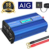 Power Inverter 2000w DC 12V to AC 120V Modified Sine Wave Inverter with 3AC Outlets Dual 2.4A USB Ports Remote Control…