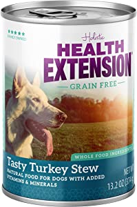 Health Extension Grain Free Tasty Turkey Stew Canned Wet Dog Food - (12) 13.2 Oz Cans