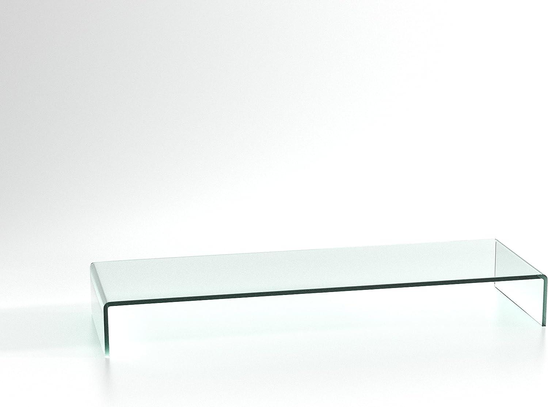 Duratable Lapdesk Aus Glas In Klar 900 Mm X 130 Mm X 300 Mm Lcd Tv Glasaufsatz Tv Aufsatz Monitor Tisch Tv Erhöhung Glas Küche Haushalt