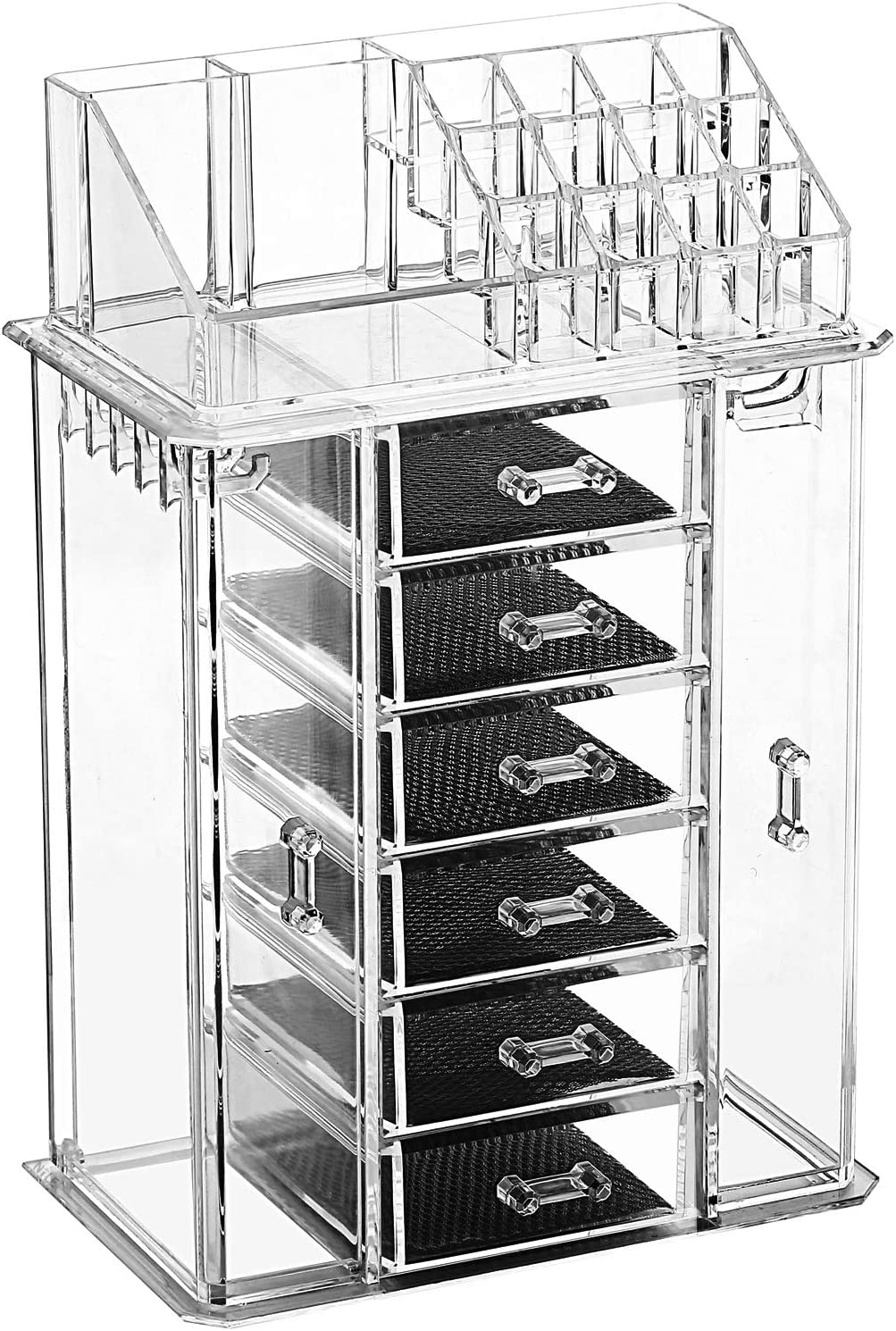 Amazon Com Ikee Design Home Acrylic Jewelry And Cosmetic Storage Boxes Makeup Organizer Home Kitchen