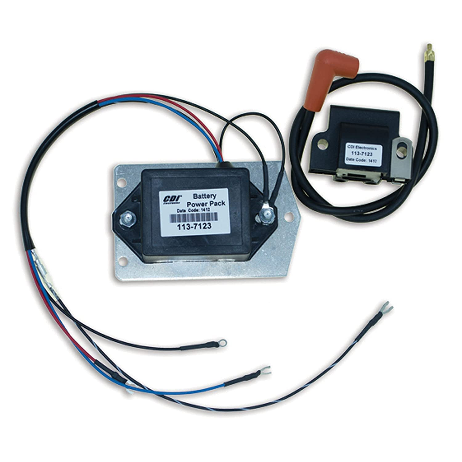 Johnson//Evinrude - 3 Cyl 1968-1972 CDI Electronics 113-7123 Battery Power Pack
