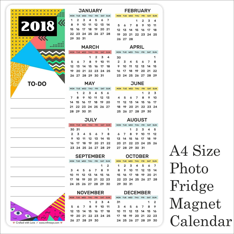 MFM juguetes funda imán para nevera calendario personalizado año ...
