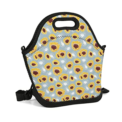 68849b5a2e8b Amazon.com - retyheju Hot Big Sunflower Seeds Kernels Lunch Bag ...