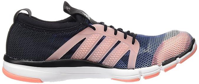 adidas Core Grace, Chaussures de Running Entrainement Femme, Multicolore (Core Schwarz/Running Weiß/Sun Glow Orange), 42 EU