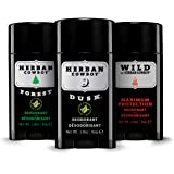 Herban Cowboy Deodorant, 2.8 Ounce Variety Pack (Forest, Dusk, Wild)