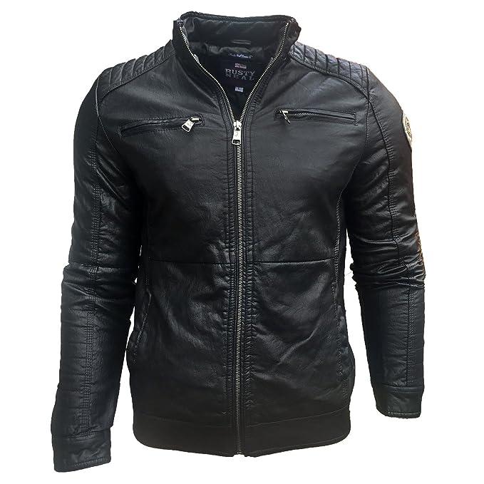 Piel sintética con capucha chaqueta de piel sintética con ...