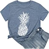 Hellopopgo Women's T Shirts Summer Shirts Casual Loose Fit Tees Funny Graphic Tops