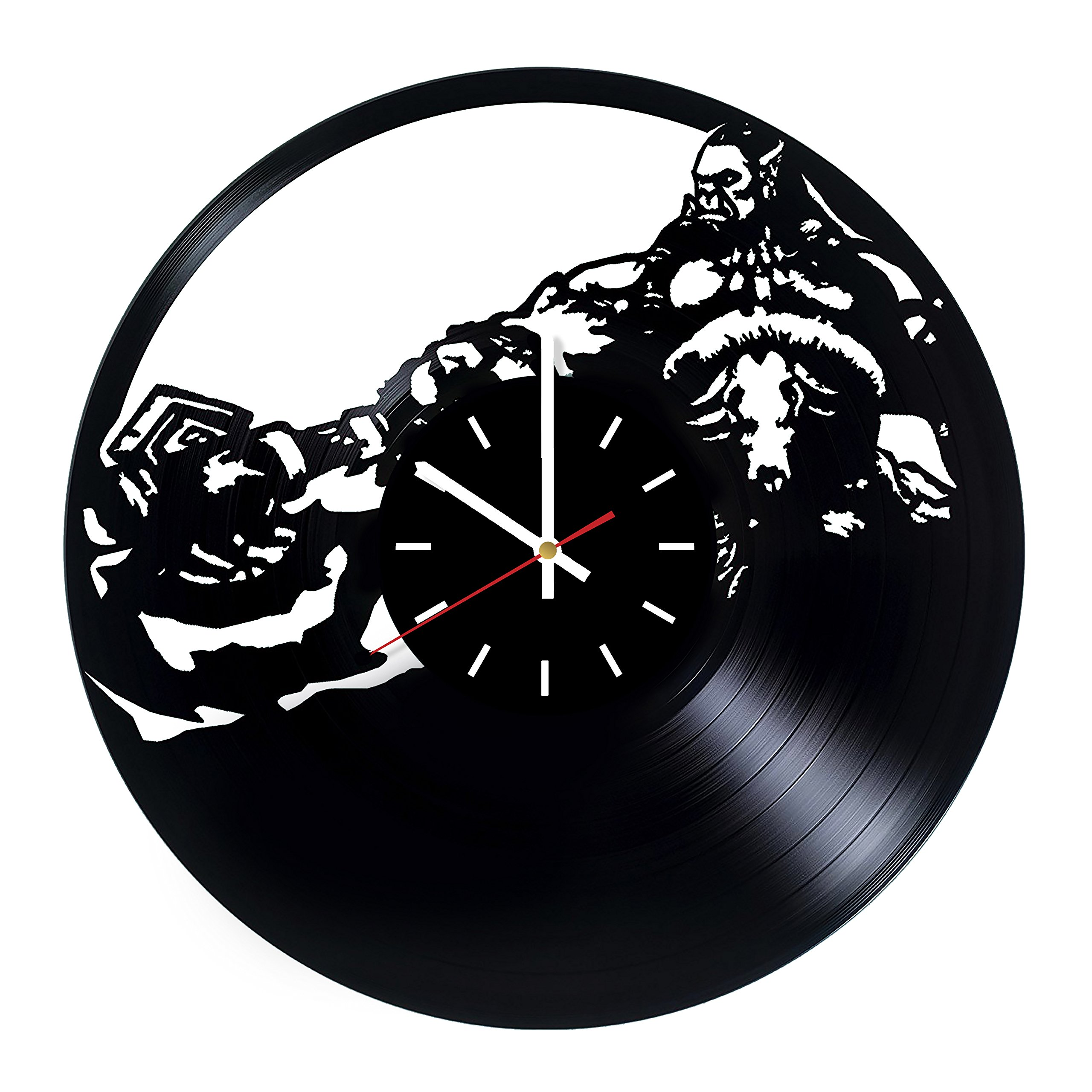 Everyday Arts World of Warcraft Alliance Design Vinyl Record Wall Clock - Get Unique Bedroom or Garage Wall Decor - Gift Ideas for Friends, Brother - Darth Vader Unique Modern Art