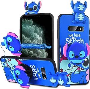 HikerClub Caso de Dibujos Animados para Galaxy Note9 Estuche para teléfono Cute Stitch Lilo para niñas niños (Note9): Amazon.es: Electrónica