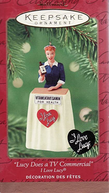 lucy does a tv commercial 2001 hallmark ornament - Hallmark Christmas Commercial