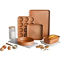 Gotham Steel Ultra Durable Bakeware - Nonstick Copper Loaf Baking Pan 9.7-Inch-by-5.75-Inch - with Quick Release Ceramic…