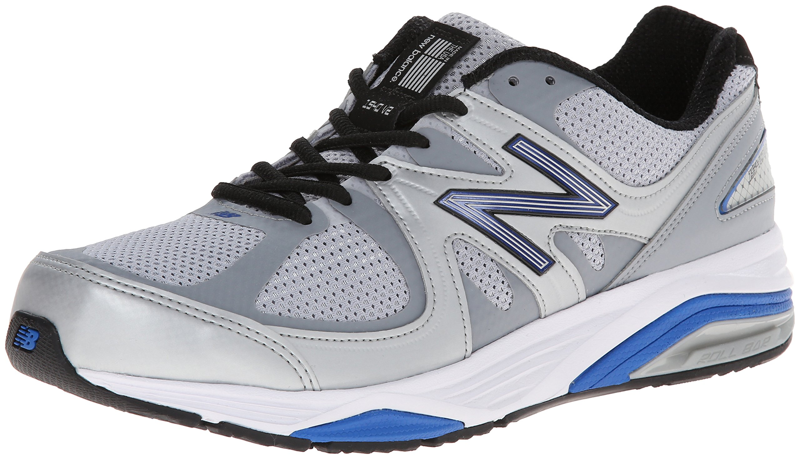 New Balance Men's M1540V2 Running Shoe, Silver/Blue, 11 6E US