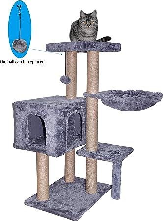 Amazon.com: WIKI 002G Árbol para gatos tiene un juguete ...