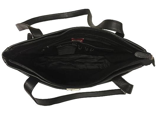 505073fb9a7f0 Branco Damen Handtasche Schultertasche Shopper Taschen Umhängetasche  Schulterbeutel Echt-Leder (schwarz)  Amazon.de  Schuhe   Handtaschen