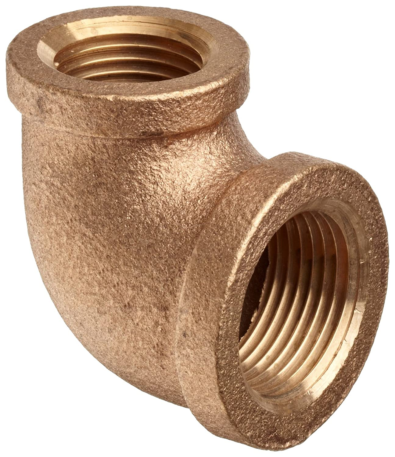 1//2 x 3//8 NPT Female 90 Degree Reducing Elbow Brass Pipe Fitting Class 125